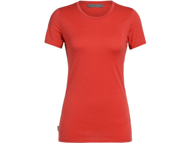 Icebreaker Tech Lite Koszulka z krótkim rękawem Kobiety, fire